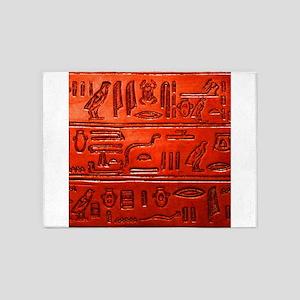 Hieroglyphs20160329 5'x7'Area Rug