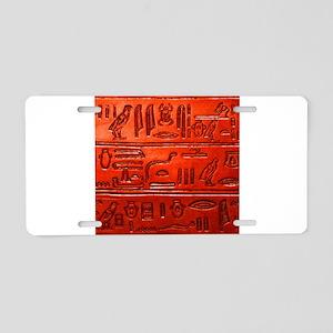 Hieroglyphs20160329 Aluminum License Plate