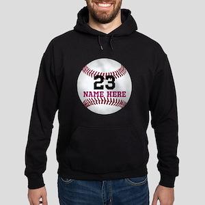 Baseball Player Name Number Hoodie (dark)