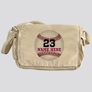 Baseball Player Name Number Messenger Bag