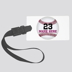 Baseball Player Name Number Large Luggage Tag