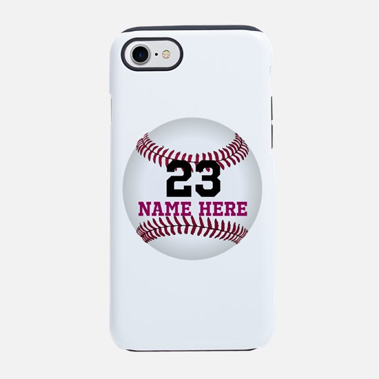 Baseball Player Name Number iPhone 7 Tough Case