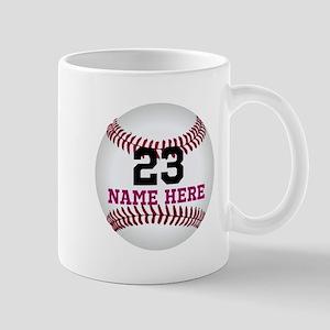 Baseball Player Name Number 11 oz Ceramic Mug