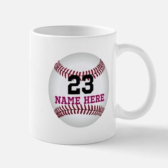 Baseball Player Name Number Mug
