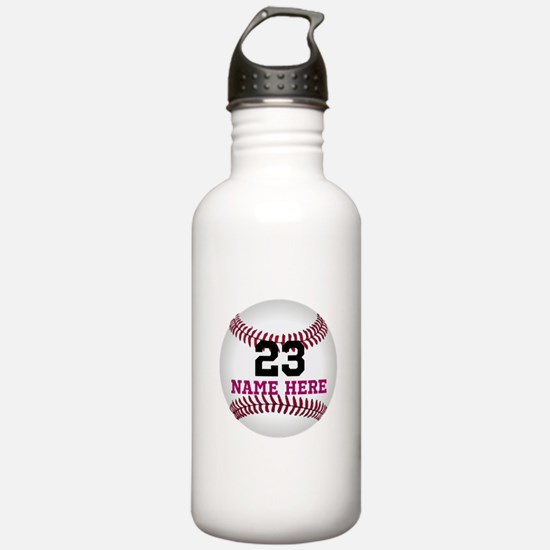 Baseball Player Name N Water Bottle