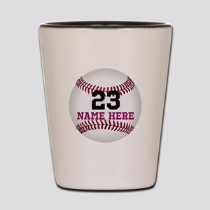 Baseball Player Name Number Shot Glass
