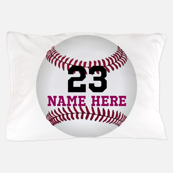Baseball Player Name Number Pillow Case