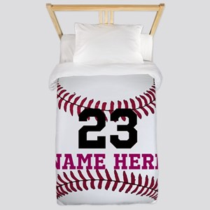 Baseball Player Name Number Twin Duvet Cover