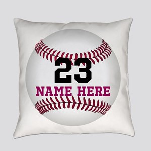 Baseball Player Name Number Everyday Pillow