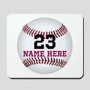 Baseball Player Name Number Mousepad