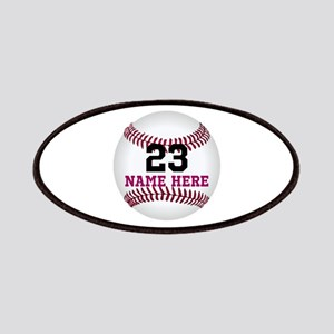 Baseball Player Name Number Patch