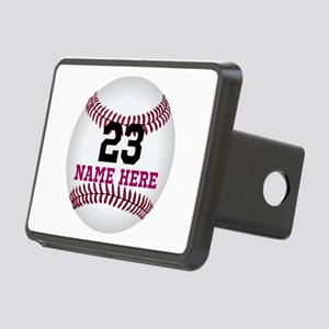 Baseball Player Name Numbe Rectangular Hitch Cover