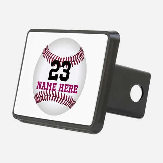 Baseball Player Name Numbe Hitch Cover