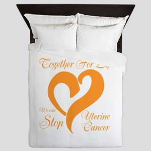 Stop Uterine Cancer Queen Duvet