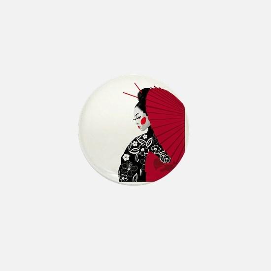 Geisha Mini Button