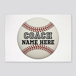 Baseball Coach Name 5'x7'Area Rug