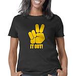 Peace It Out Black T-Shirt Women's Classic T-Shirt