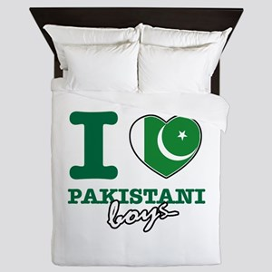 I love Pakistani Boys Queen Duvet