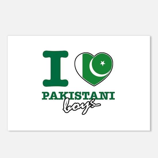 I love Pakistani Boys Postcards (Package of 8)