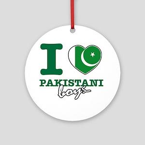 I love Pakistani Boys Ornament (Round)