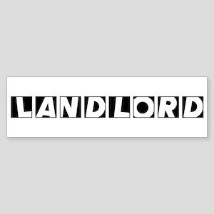 Landlord Bumper Sticker