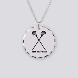 Lacrosse Player Customized Necklace Circle Charm