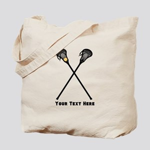 Lacrosse Player Customized Tote Bag