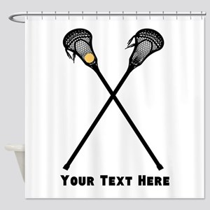Lacrosse Player Customized Shower Curtain