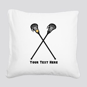 Lacrosse Player Customized Square Canvas Pillow