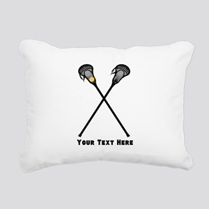 Lacrosse Player Customiz Rectangular Canvas Pillow