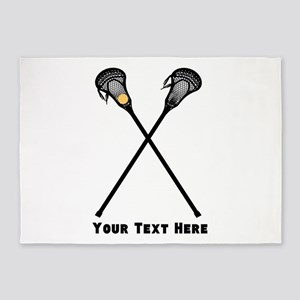 Lacrosse Player Customized 5'x7'Area Rug