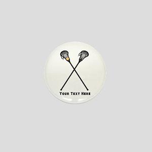 Lacrosse Player Customized Mini Button