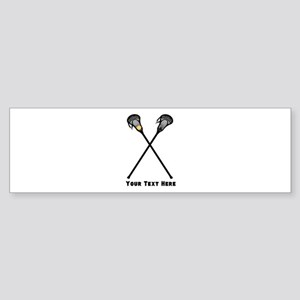 Lacrosse Player Customized Sticker (Bumper)