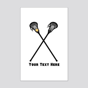 Lacrosse Player Customized Mini Poster Print