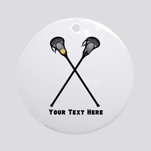 Lacrosse Player Customized Round Ornament