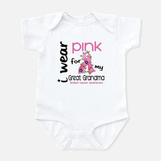 I Wear Pink 43 Breast Cancer Infant Bodysuit