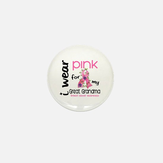 I Wear Pink 43 Breast Cancer Mini Button