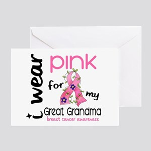 I Wear Pink 43 Breast Cancer Greeting Card