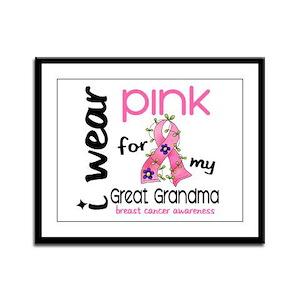 I Wear Pink 43 Breast Cancer Framed Panel Print