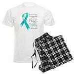 Ovarian Cancer Ribbon Men's Light Pajamas