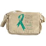 Ovarian Cancer Ribbon Messenger Bag