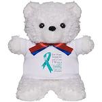 Ovarian Cancer Ribbon Teddy Bear
