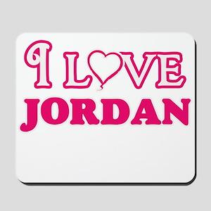 I Love Jordan Mousepad