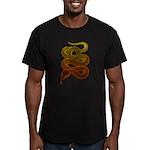 snake Men's Fitted T-Shirt (dark)