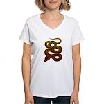 snake Women's V-Neck T-Shirt