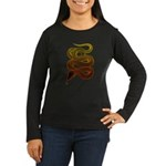 snake Women's Long Sleeve Dark T-Shirt