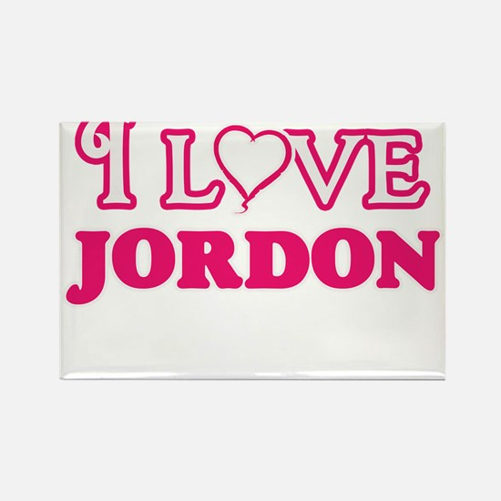 I Love Jordon Magnets