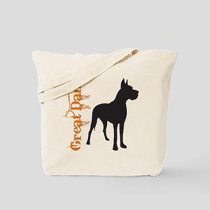 Grunge Great Dane Silhouette Tote Bag