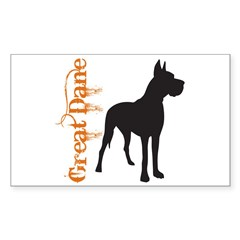 Grunge Great Dane Silhouette Decal