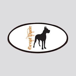 Grunge Great Dane Silhouette Patches